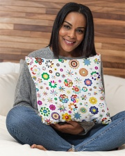 "Rainbow Stars and flowers Pillow  Indoor Pillow - 16"" x 16"" aos-decorative-pillow-lifestyle-front-13"