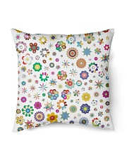 "Rainbow Stars and flowers Pillow  Indoor Pillow - 16"" x 16"" back"