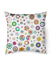 "Rainbow Stars and flowers Pillow  Indoor Pillow - 16"" x 16"" front"