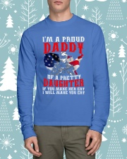 Veteran Proud Daddy Of A Pretty Daughter Shirt Long Sleeve Tee lifestyle-holiday-longsleeves-front-1