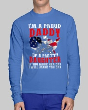Veteran Proud Daddy Of A Pretty Daughter Shirt Long Sleeve Tee lifestyle-unisex-longsleeve-front-1