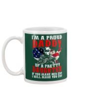Veteran Proud Daddy Of A Pretty Daughter Shirt Mug back