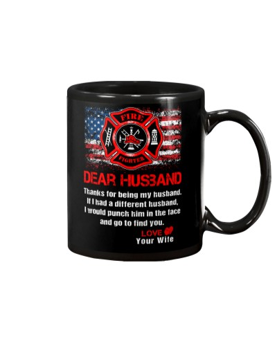 Firefighter Dear Husband Mug