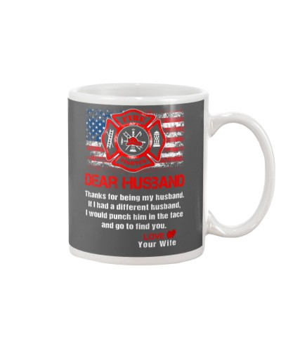Firefighter Dear Husband Mug