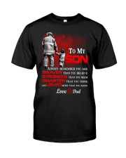 Firefighter To my Son Classic T-Shirt tile