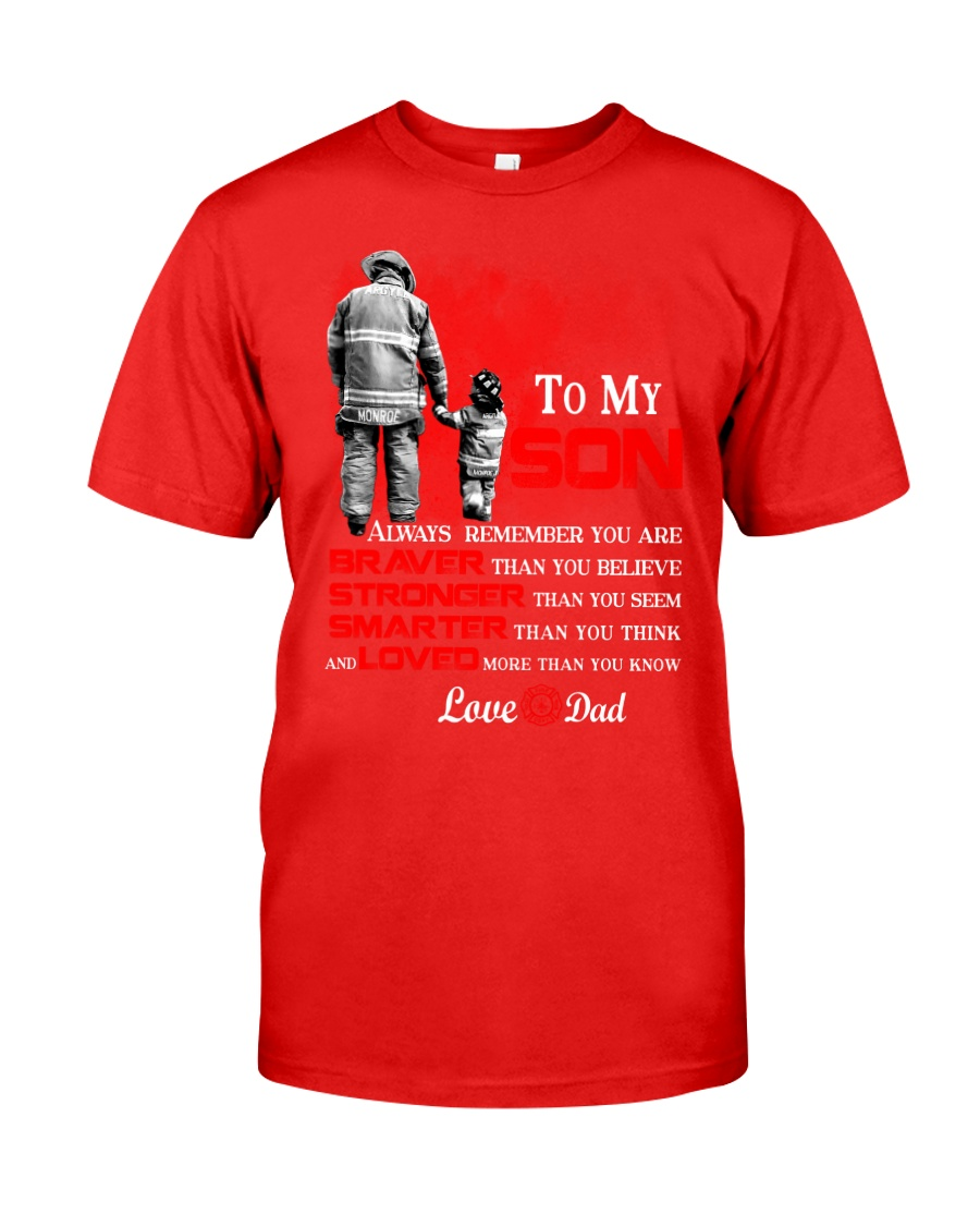 Firefighter To my Son Classic T-Shirt