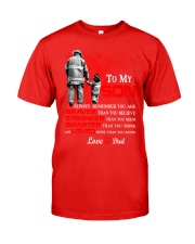 Firefighter To my Son Classic T-Shirt front