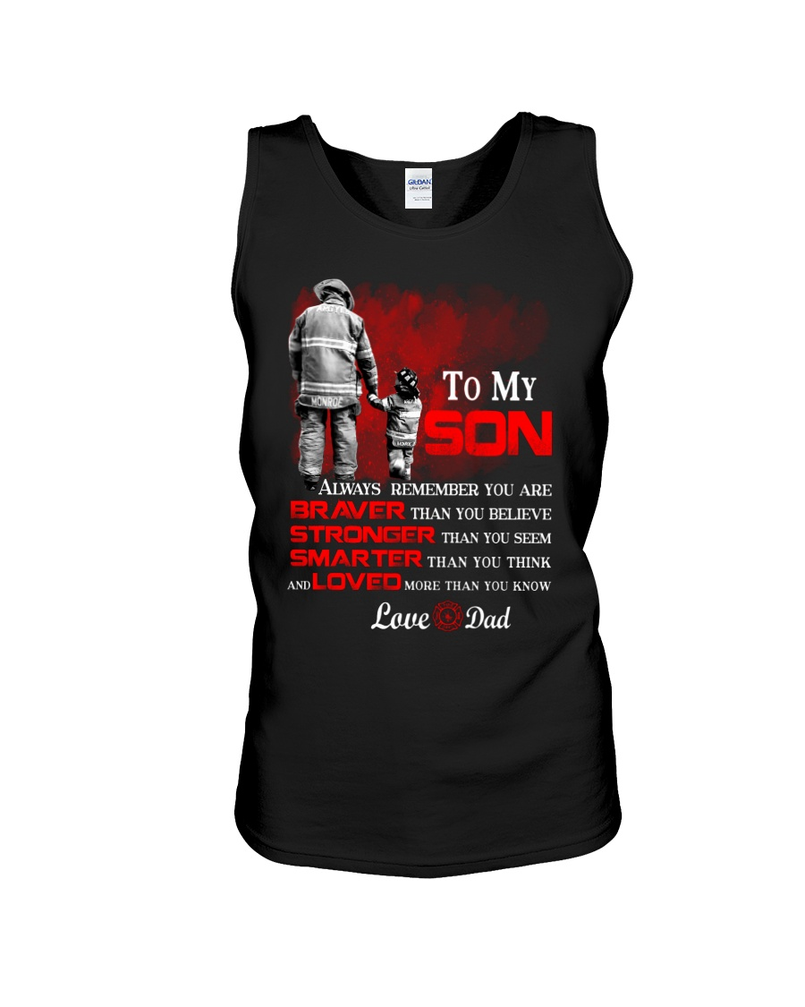Firefighter To my Son Unisex Tank