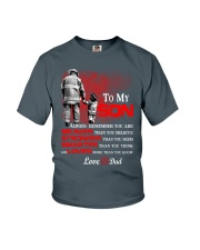 Firefighter To my Son Youth T-Shirt front
