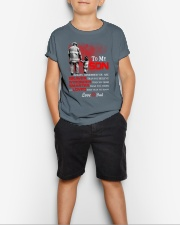 Firefighter To my Son Youth T-Shirt lifestyle-youth-tshirt-front-1