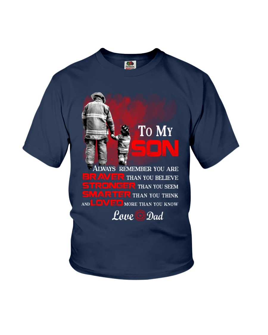 Firefighter To my Son Youth T-Shirt