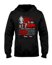 Firefighter To my Son Hooded Sweatshirt thumbnail