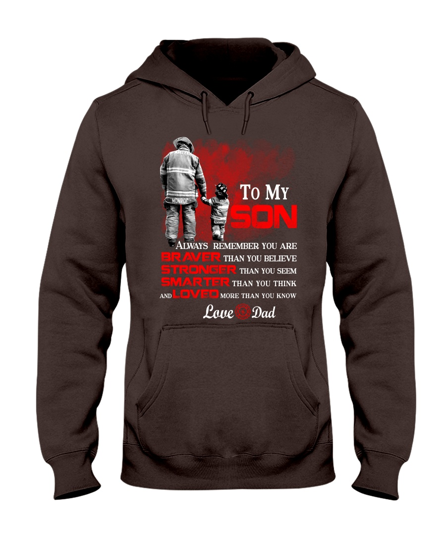 Firefighter To my Son Hooded Sweatshirt