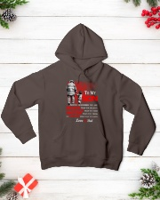 Firefighter To my Son Hooded Sweatshirt lifestyle-holiday-hoodie-front-3