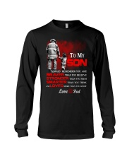 Firefighter To my Son Long Sleeve Tee tile