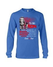 Firefighter To my Son Long Sleeve Tee front