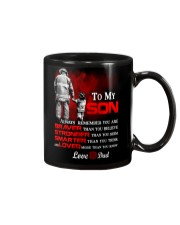 Firefighter To my Son Mug tile