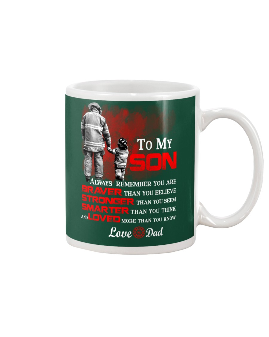 Firefighter To my Son Mug