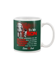 Firefighter To my Son Mug front