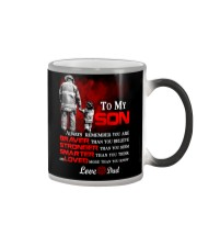 Firefighter To my Son Color Changing Mug tile
