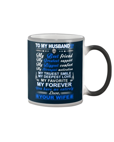 Police My Husband Have Me Entirely Mug