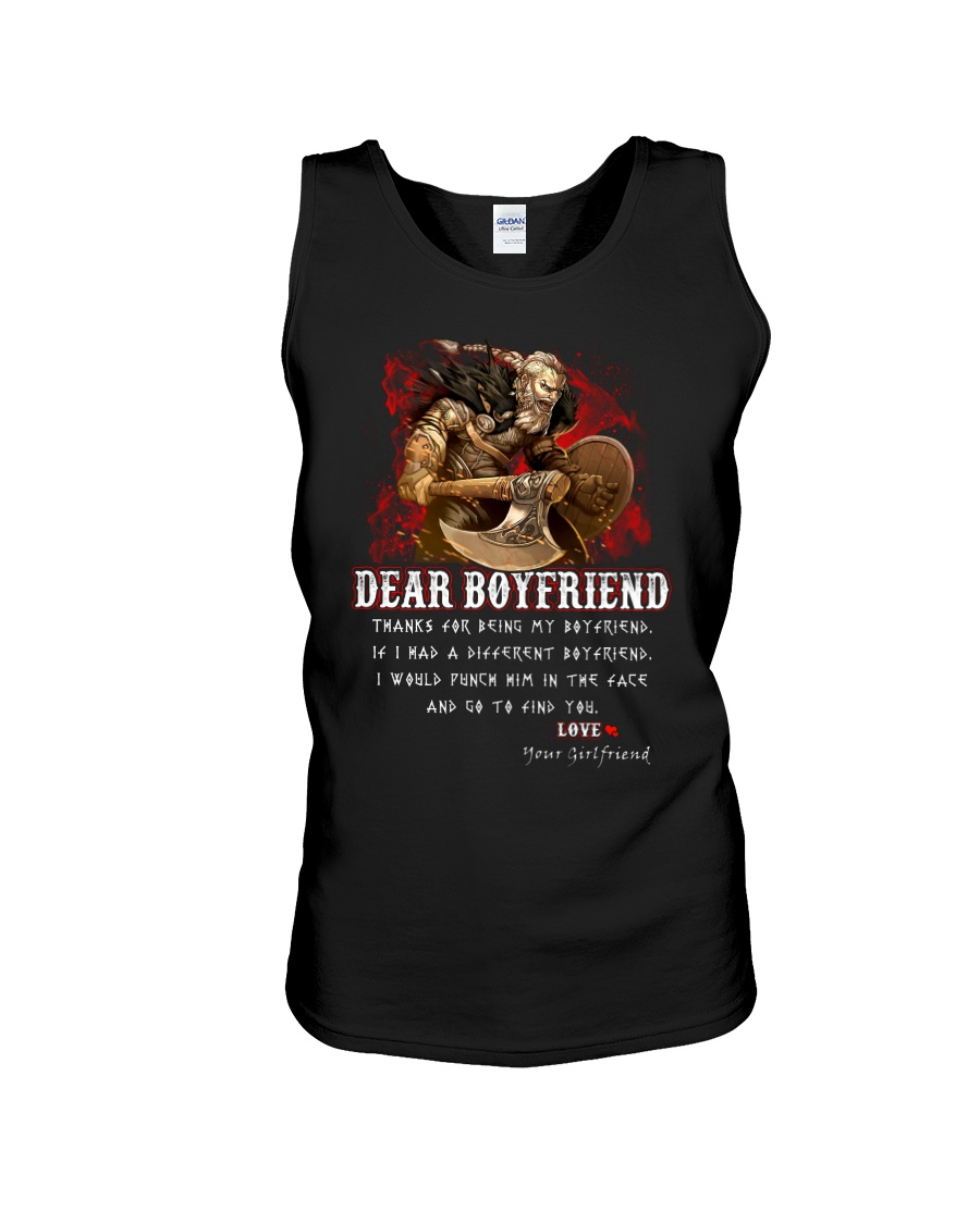 Viking Dear Boyfriend Mug Unisex Tank