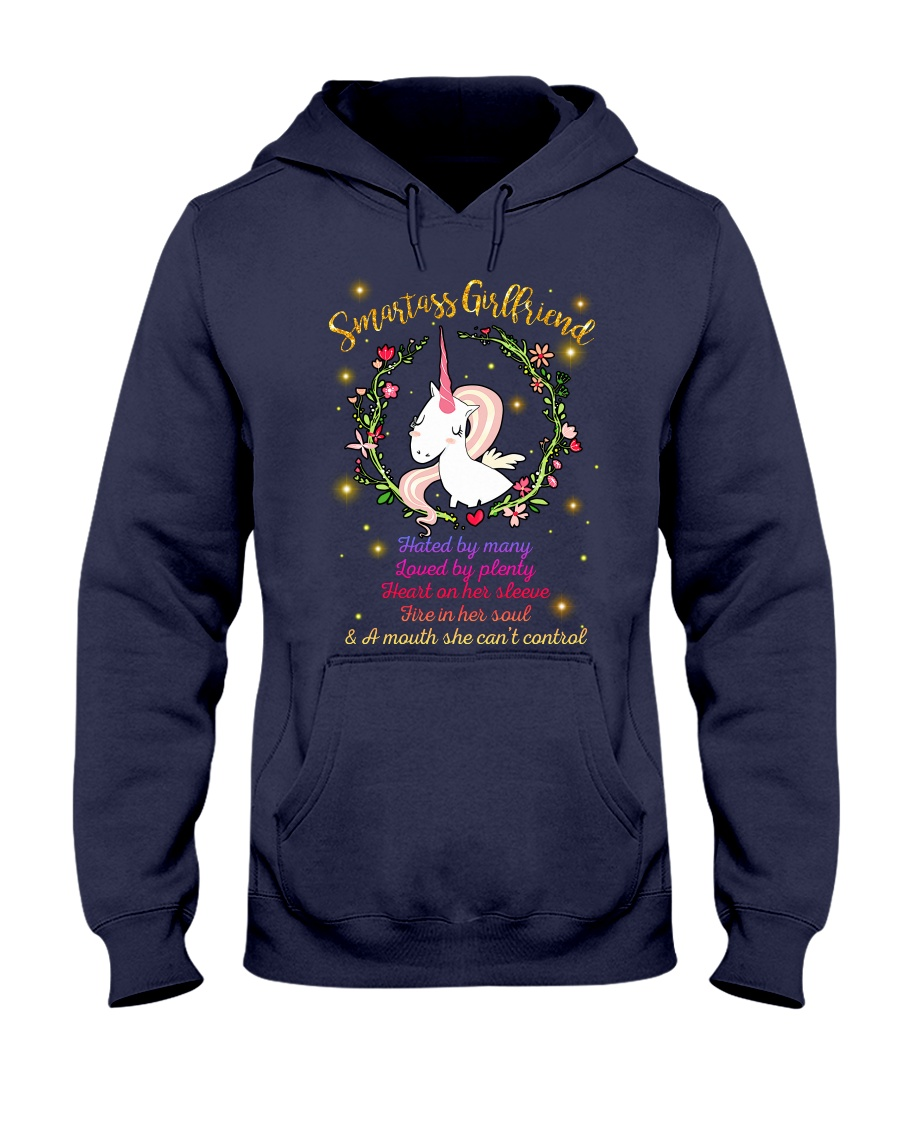 Unicorn Smartass Girlfriend Mug Hooded Sweatshirt