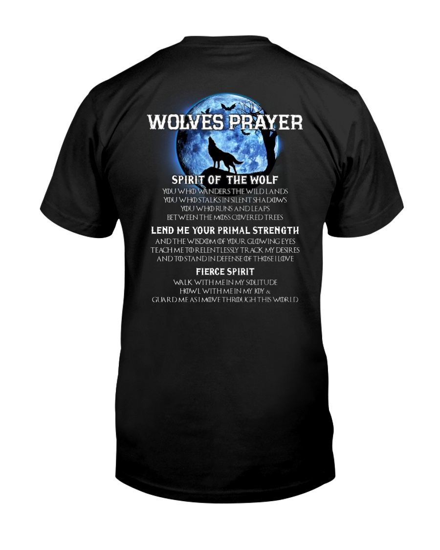 Vikings Wolves Prayer With Blue Moon Shirt Classic T-Shirt