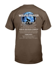 Vikings Wolves Prayer With Blue Moon Shirt Classic T-Shirt back