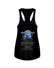 Vikings Wolves Prayer With Blue Moon Shirt Ladies Flowy Tank thumbnail