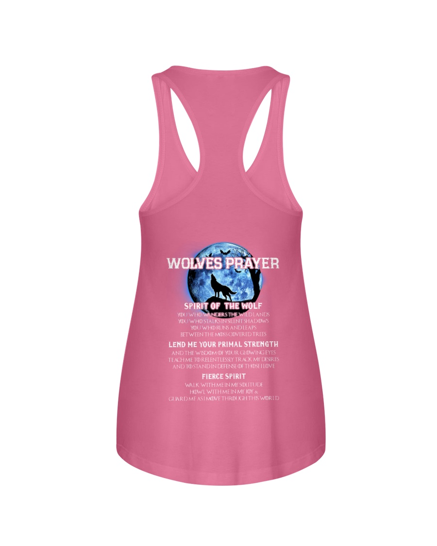 Vikings Wolves Prayer With Blue Moon Shirt Ladies Flowy Tank