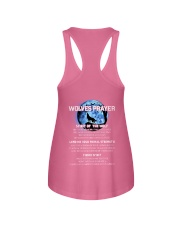 Vikings Wolves Prayer With Blue Moon Shirt Ladies Flowy Tank back