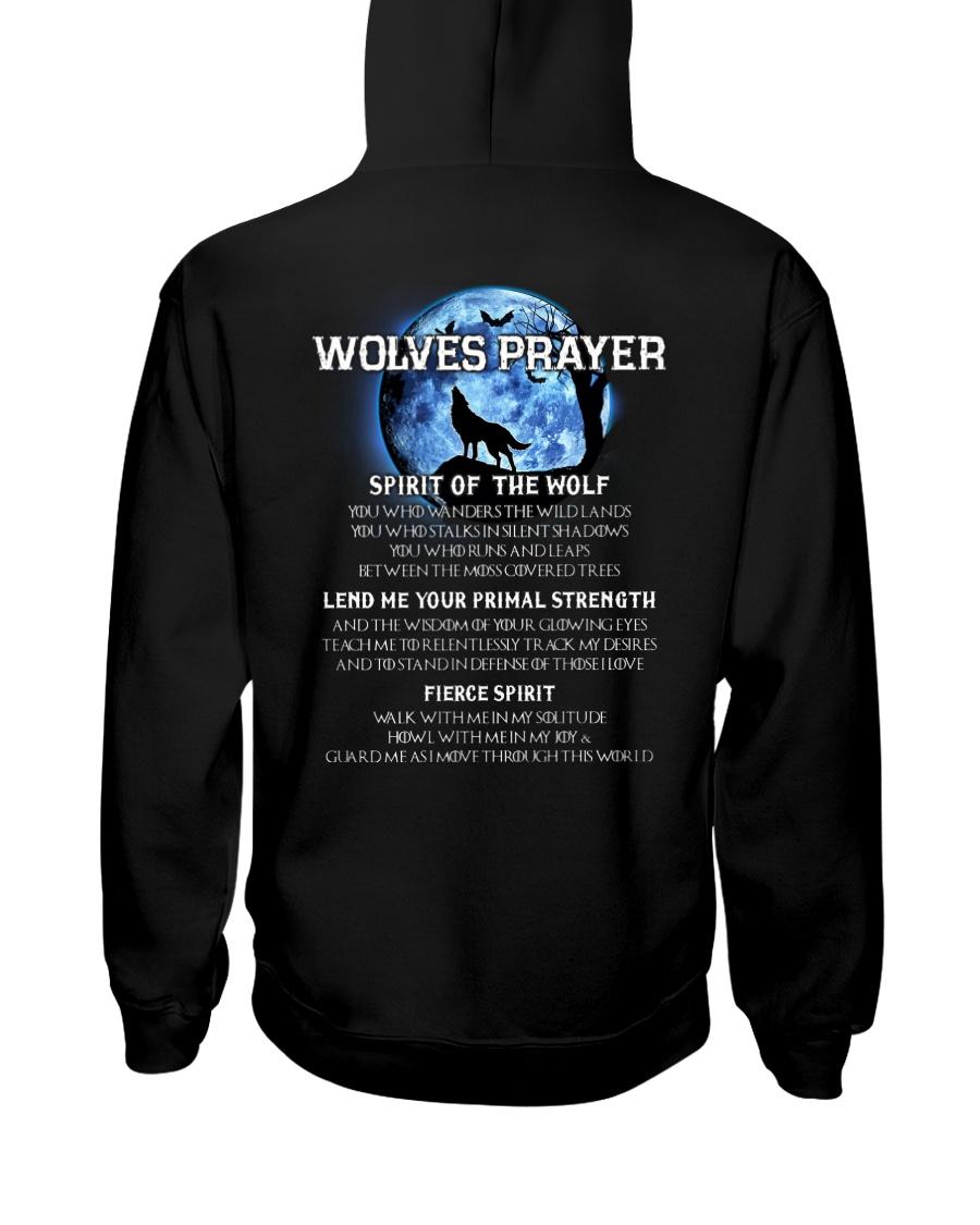 Vikings Wolves Prayer With Blue Moon Shirt Hooded Sweatshirt