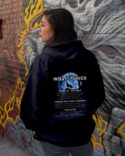 Vikings Wolves Prayer With Blue Moon Shirt Hooded Sweatshirt lifestyle-unisex-hoodie-back-1