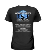 Vikings Wolves Prayer With Blue Moon Shirt Ladies T-Shirt thumbnail