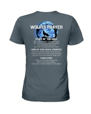 Vikings Wolves Prayer With Blue Moon Shirt Ladies T-Shirt back
