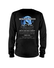 Vikings Wolves Prayer With Blue Moon Shirt Long Sleeve Tee tile