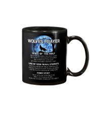 Vikings Wolves Prayer With Blue Moon Shirt Mug tile