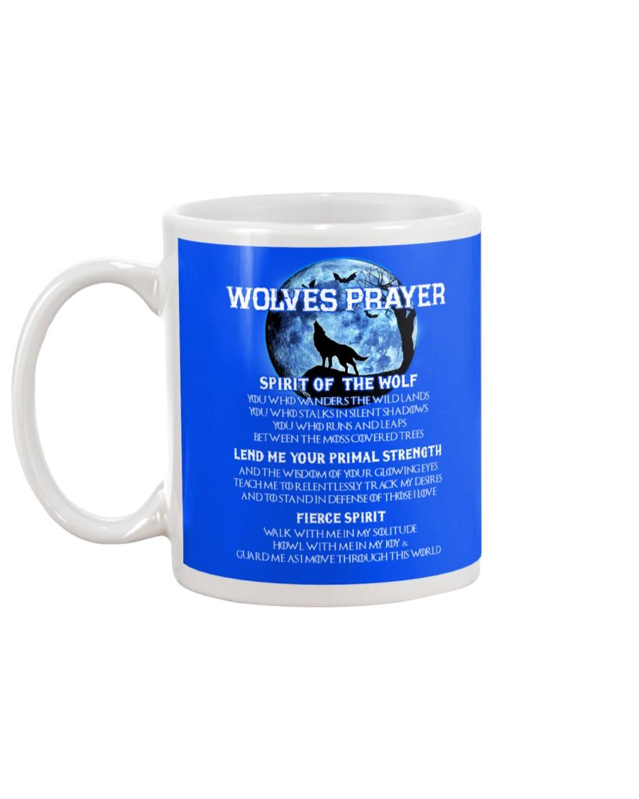Vikings Wolves Prayer With Blue Moon Shirt Mug