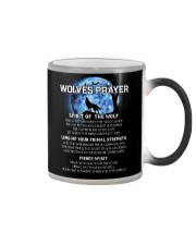 Vikings Wolves Prayer With Blue Moon Shirt Color Changing Mug tile