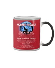 Vikings Wolves Prayer With Blue Moon Shirt Color Changing Mug thumbnail