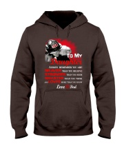 Firefighter To my Daughter Hooded Sweatshirt front