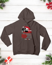 Firefighter To my Daughter Hooded Sweatshirt lifestyle-holiday-hoodie-front-3