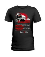 Firefighter To my Daughter Ladies T-Shirt thumbnail
