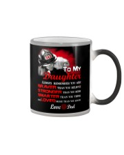 Firefighter To my Daughter Color Changing Mug tile