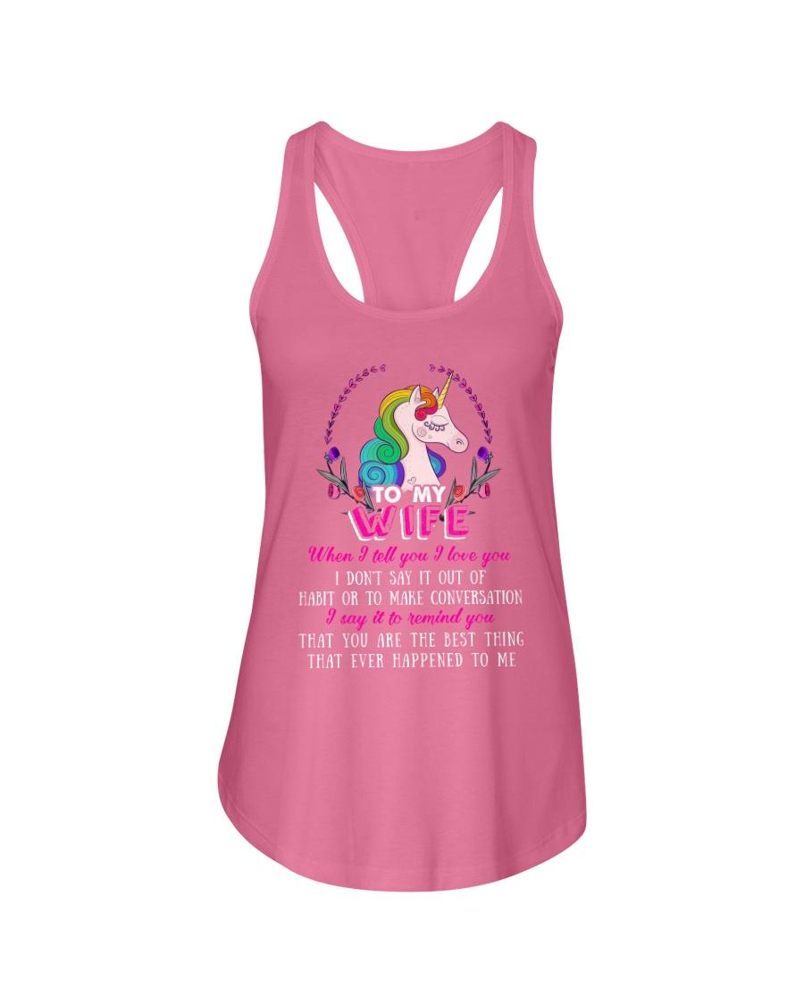 Unicorn To My Wife Mug Ladies Flowy Tank