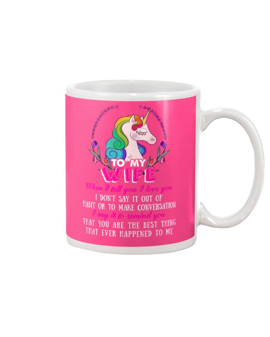 Unicorn To My Wife Mug Mug showcase