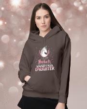 Unicorn Smartass Daughter Mug Hooded Sweatshirt lifestyle-holiday-hoodie-front-1