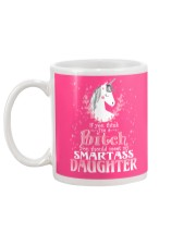 Unicorn Smartass Daughter Mug Mug back