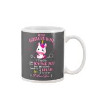 Unicorn Loving You And Breathing Mug Mug front